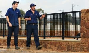 Final inspection of Coffee Rock and powdered coated fencing-Dunsborough-Busselton-Vasse-Quindalup-Eagle Bay-Cowaramup-Margaret River and Yallingup-0418 903 281 1