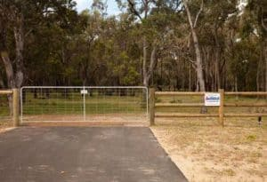 Post and rail gated entry fencing-Dunsborough-Busselton-Vasse-Quindalup-Eagle Bay-Cowaramup-Margaret River and Yallingup-0418 903 281
