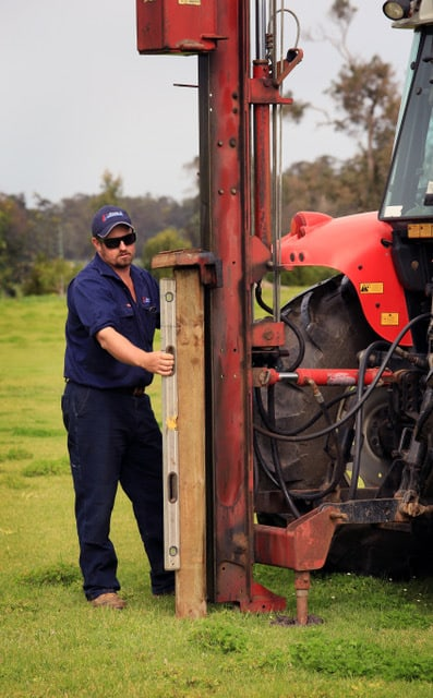 Post hole drilling for fencing in Dunsborough-0418 903 281