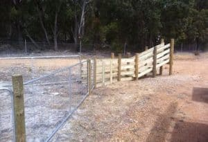 Stock ramp with post and ringlock fencing-Dunsborough-Busselton-Vasse-Quindalup-Eagle Bay-Cowaramup-Margaret River and Yallingup-0418 903 281 1