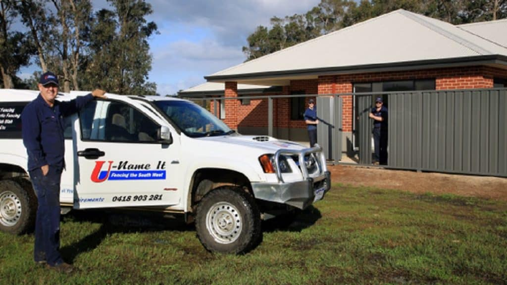 U-Name It Fencing Contractor vehicle-Dunsborough-Busselton-Vasse-Quindalup-Eagle Bay-Cowaramup-Margaret River and Yallingup-0418 903 281 1