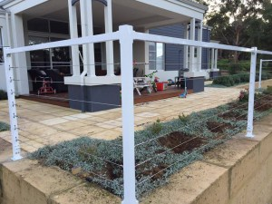 Orchard balastrade fencing-wire and post-Dunsborough-Busselton-Vasse-Quindalup-Eagle Bay-Cowaramup-Margaret River and Yallingup-0418 903 281