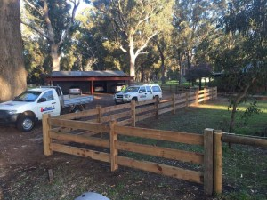 Post and rail timber fence installation-Dunsborough-Busselton-Vasse-Quindalup-Eagle Bay-Cowaramup-Margaret River and Yallingup-0418 903 281