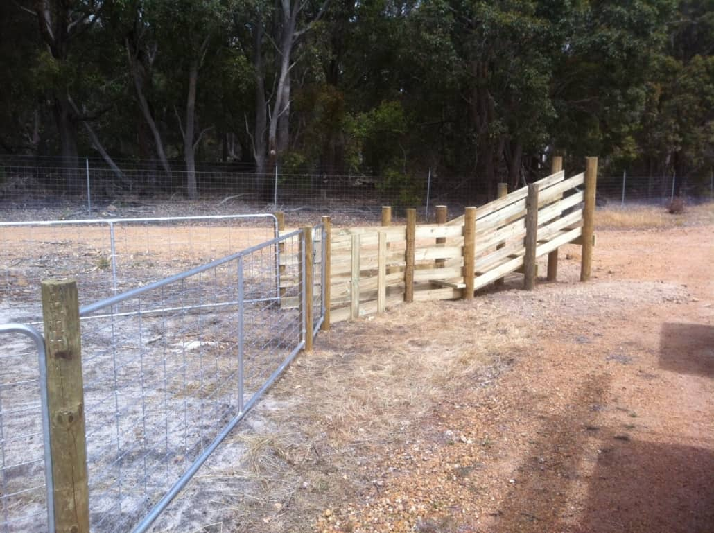 Stock loading ramp and fencing-wire and post-Dunsborough-Busselton-Vasse-Quindalup-Eagle Bay-Cowaramup-Margaret River and Yallingup-0418 903 281